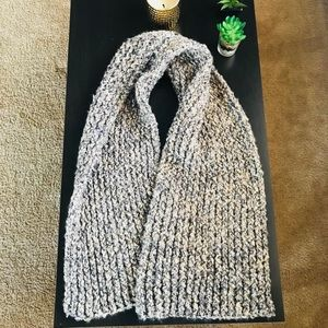 Homemade chunky knit versatile scarf!